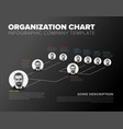 minimalist hierarchy 3d chart vector image vector image