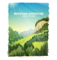Mountains Landscape Background Poster vector image vector image