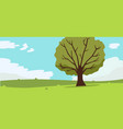nature landscape with tree clouds and sky vector image vector image