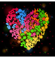 neon heart3 vector image vector image
