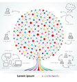 Networks Tree vector image vector image