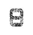 number eight sign 8 textured font grunge design vector image vector image