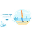 outdoor yoga concept at seaside vector image
