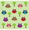 owl background tree vector image vector image