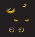 Owl eyes in the dark vector image vector image