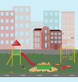 playground kindergarten city town views vector image