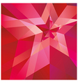 Red Star with the verge on the abstract background vector image vector image