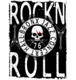 rockn roll music poster vector image vector image