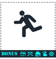 Run icon flat vector image