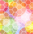 Seamless honeycomb and transparent dots pattern vector image vector image