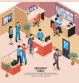 security in office background vector image vector image