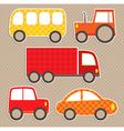 set cute colorful transport stickers vector image