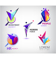 set human faceted people logo hr vector image vector image