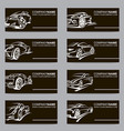 set of car business cards vector image