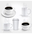 Set of coffee cups vector | Price: 3 Credits (USD $3)