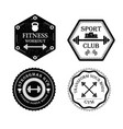 set of gym and fitness logo vector image vector image