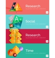 Set of infographic flat design banners with vector image vector image