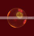 sphere consisting of points 3d grid design vector image vector image