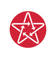 Star icon with arrows vector image