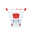Supermarket Grocery Shopping Cart Realistic Image vector image