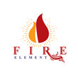 the power of burning flame fire element abstract vector image vector image
