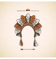 Traditional Native American headdress background vector image