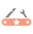 universal multitool knife halftone icon vector image vector image