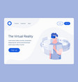 vr landing page template vector image vector image