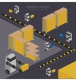 Warehousing process infographics vector image