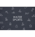 Water Sports Thin Line Icons vector image vector image