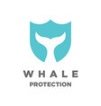 whale protection logo vector image