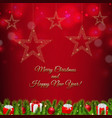 xmas postcard with firtree border vector image vector image