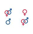 set traditional female and male symbols venus vector image