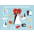 Wedding costs infographics Financial plan for vector image