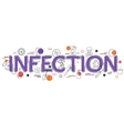 Infection Background with icons and vector image