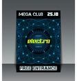 Night party networking poster vector image
