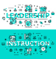 Leadership and Instruction heading title web vector image