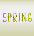 Abstract spring background with folded letters vector image vector image