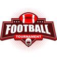 american football tournament logo design vector image vector image