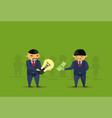 asian busienss man buy idea for money light bulb vector image vector image
