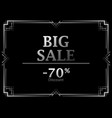 black friday big sale discount 70 percent art vector image vector image