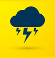 blue storm icon isolated on yellow background vector image vector image