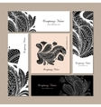 Business cards design floral mandala vector image vector image