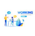 businessman and businesswoman working together vector image vector image