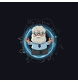 cartoon of scientist character vector image vector image