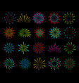 color fireworks festive christmas salute happy vector image vector image