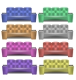 Colorful Leather Comfortable Soft Sofa vector image vector image