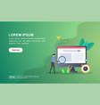 concept seo modern conceptual for banner flyer vector image