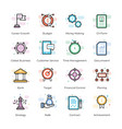 crowdfunding and business icons vector image vector image