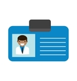 Doctor id vector image vector image